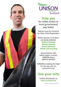 thumbnail of 27 08 21 local government strike poster janitor A4 (less ink)
