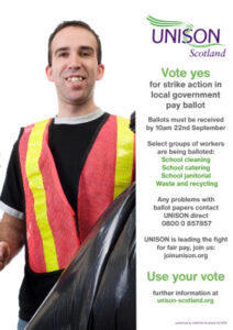 thumbnail of 27 08 21 local government strike poster janitor (less ink) A3