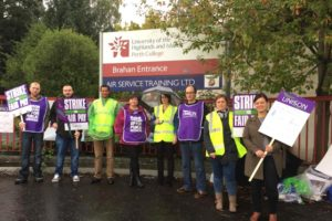 Picket Line at Perth
