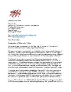 thumbnail of 30th Nov Letter to Minister