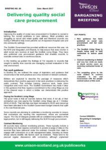 thumbnail of Bargaining Briefing 85 social care
