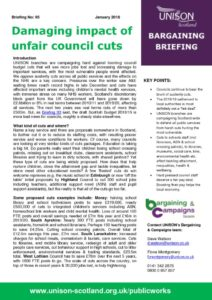 thumbnail of Bargaining Briefing Cuts Impact Jan 2018