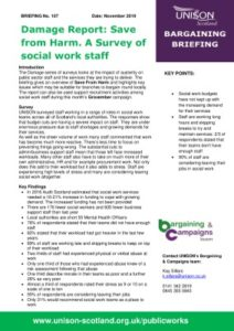 thumbnail of Bargaining Briefing – Damage Report Social Work Novemner 2019