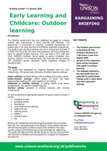 thumbnail of Bargaining briefing 111 Early Learning and Childcare outdoor learning