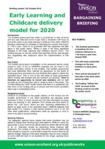 thumbnail of Bargaining briefing Early Learning and Childcare Delivery Model October 2018