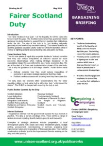 thumbnail of Bargaining briefing Fairer Scotland Duty May 2018