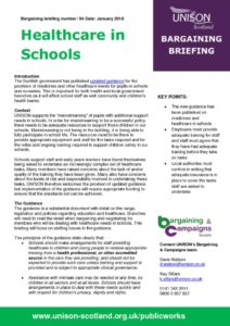 thumbnail of Bargaining briefing healthcare in schools Jan 2018
