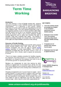 thumbnail of Briefing 77 Term Time Working