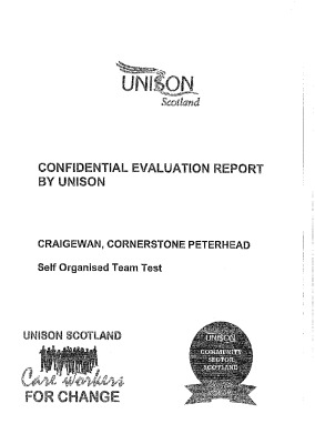thumbnail of Confidential Evaluation Report By UNISON