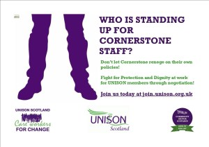 Standing up for Cornerstone staff
