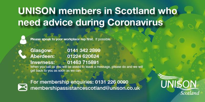 CORONAVIRUS ALL MEMBERS: How to contact us