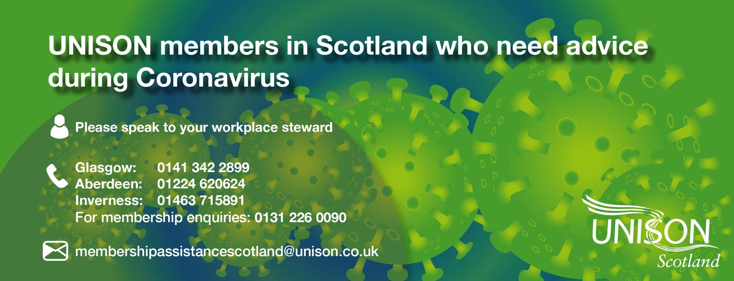 Coronavirus health contact slider