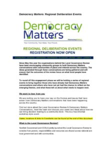 thumbnail of Democracy Matters – Regional Events