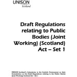 Draft Regulations relating to Public Bodies (Joint Working) (Scotland) Act Set 1 response