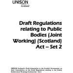 Draft Regulations relating to Public Bodies (Joint Working) (Scotland) Act – Set 2 response