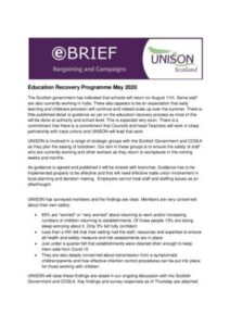 thumbnail of Education Recovery e-brief May 2020