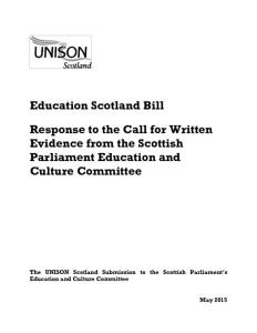 thumbnail of EducationScotlandBill_UNISONScotlandEvidenceto SPEducationCttee_May2015