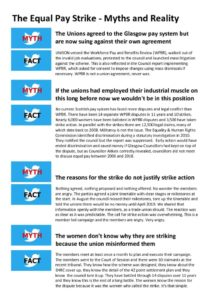 thumbnail of Glasgow Equal Pay Strike Myths and Reality – Mini version