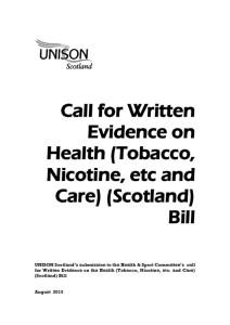 thumbnail of HealthTobaccoNicotine+CareBill_UNISONsubmissiontoSPHealth+SportCttee_Aug2015