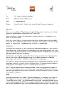 thumbnail of Joint Sec Letter to Tom Young re Revised Pay Offer 150918