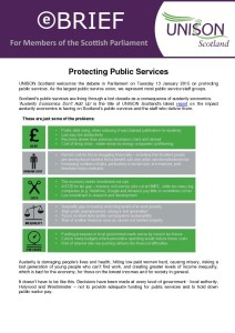 MSP e-briefing: Public Services