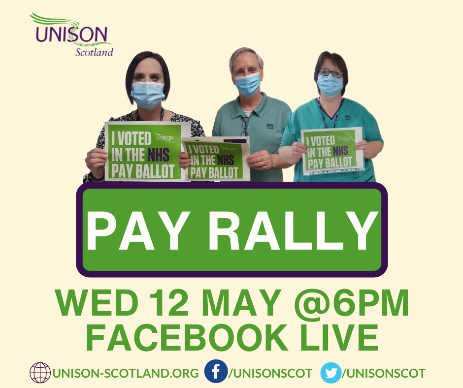 Join NHS Pay Ballot Online Rally