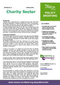 thumbnail of Policy briefing 74 – charity sector