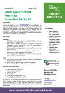 thumbnail of Policy briefing – local government financial overview 2018-19