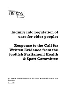 thumbnail of Response_RegulationofCareHomes_EvidencetoHealthCommittee_August2011