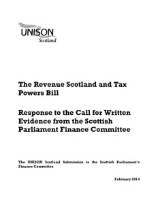 thumbnail of RevenueScotland+TaxPowersBill_UNISONEvidencetoSPFinanceCttee_Feb2014