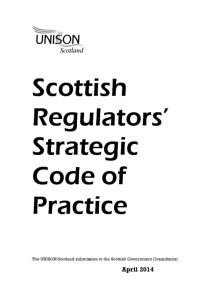 thumbnail of ScottishRegulatorsStrategicCodeofPracticeResponseApr2014