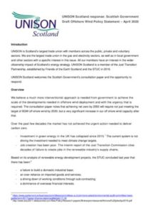 thumbnail of UNISON Scotland Offshore Wind Response April 2020