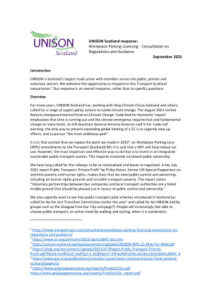thumbnail of UNISON response Workplace Parking Licensing Regs Guidance