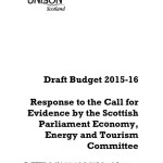 Draft Budget 2015-16 Economy, Energy and Tourism Committee response