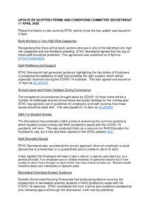 thumbnail of Update from STAC Secretariat – 17 April 2020