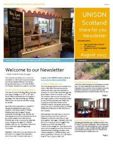UNISON Scotland Welfare Newsletter August 2015