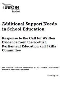 Additional Support Needs response