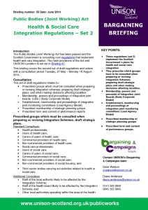 Briefing 55: Bargaining - Health and social care integration regulations - Set 2