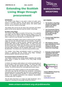 Briefing 56: Bargaining - Extending the Scottish Living Wage through Procurement