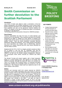 Briefing 63: Policy - Smith Commission on Devolution