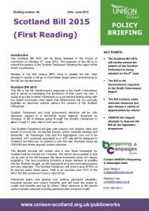 Briefing 66: Policy - Scotland Bill