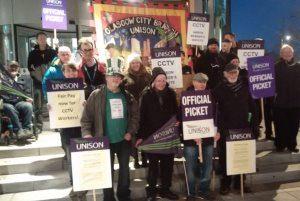 Glasgow CCTV strikers