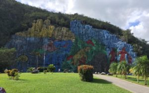 Painted cliff