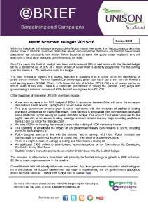 e-briefing: Draft Scottish Budget 2015-16