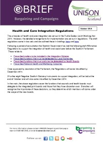 e-briefing: Health and social care integration regulations
