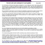 e-briefing Social work and contempt of court update