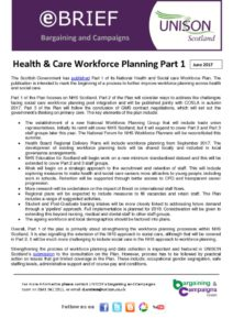 thumbnail of ebrief health and care workforce planning Part1 June 2017