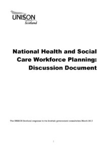 thumbnail of health and care workforce planning response