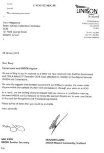 Letter to ACAS