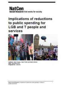 Implications of Reductions to Public Spending for LGB and T People and Services